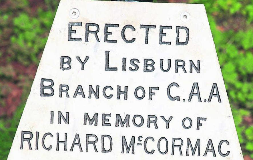 Lisburn GAA club re-erect poignant tribute to member