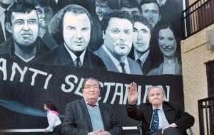 Bogside mural tribute to John Hume and Ivan Cooper
