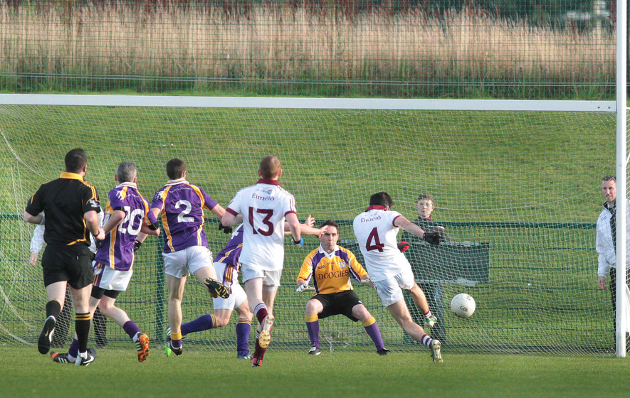 Shooting practice for Slaughtneil who trash Derrygonnelly