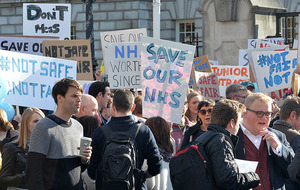 In Pictures: Junior doctors protest changes which 'will jeopardise patient safety'