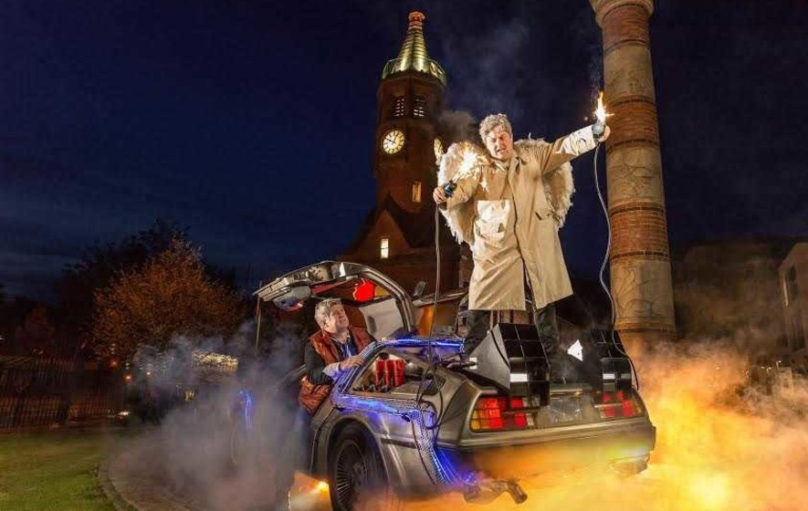 Iconic Back to the Future clock tower scene recreated in Belfast