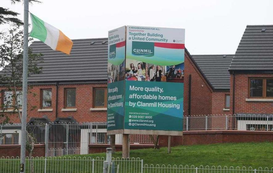 Tricolours appear beside north Belfast housing development