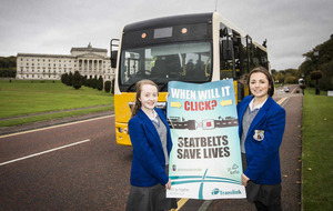Pupils reminded of importance of seatbelts on school buses