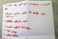 Boy (7) asks Santa to help catch men who shot him