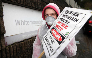 Protest at west Belfast Quarry site over waste plans
