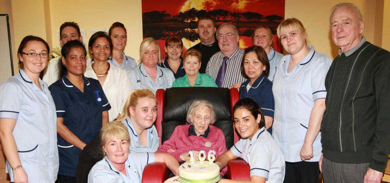 Former linen mill worker Margaret celebrates 106th birthday - The