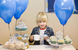 Snow cakes for autism Christmas charity appeal