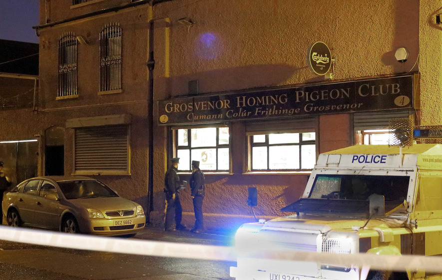 Two men shot in legs in west Belfast club