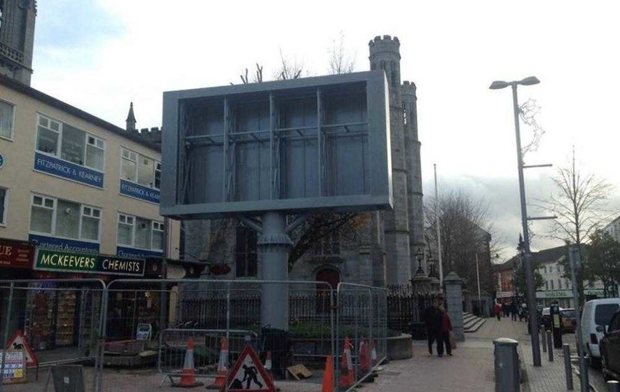 Bishop hits out at 'unsightly' big screen beside Newry Cathedral