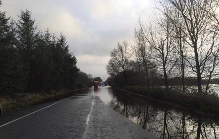 Man rescued from van trapped in Co Armagh flood water