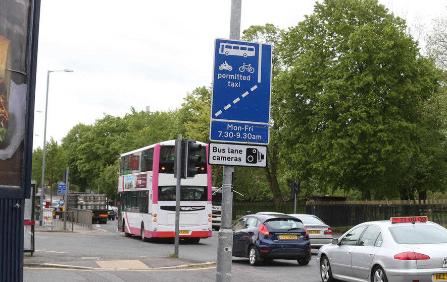 600 police vehicles fined by mistake after entering bus lanes