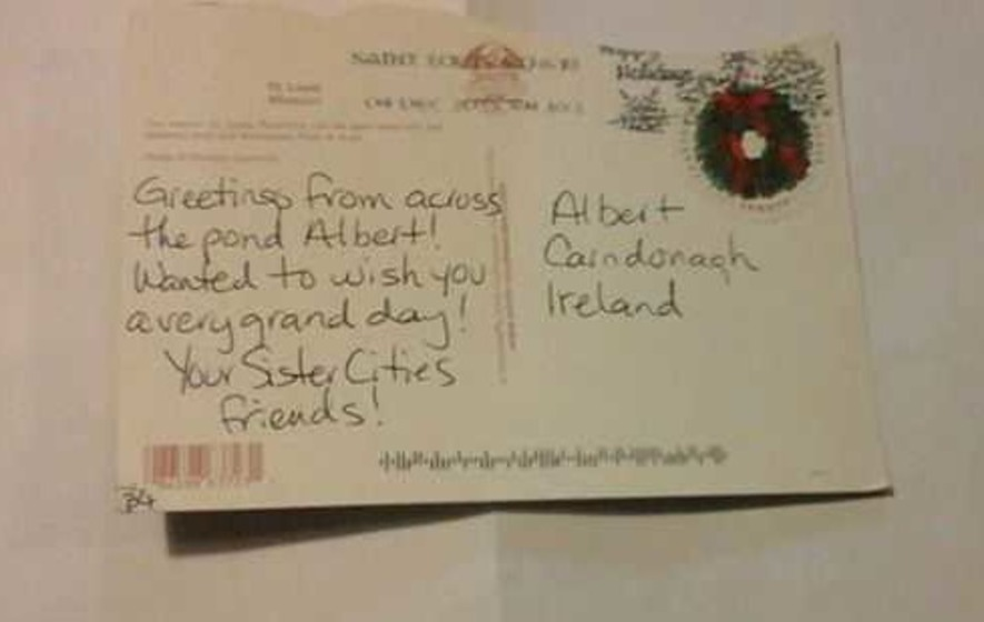 Postcard for 'Albert, Carndonagh, Ireland' no problem for Donegal postmen