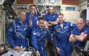 Major Tim Peake steps into the International Space Station