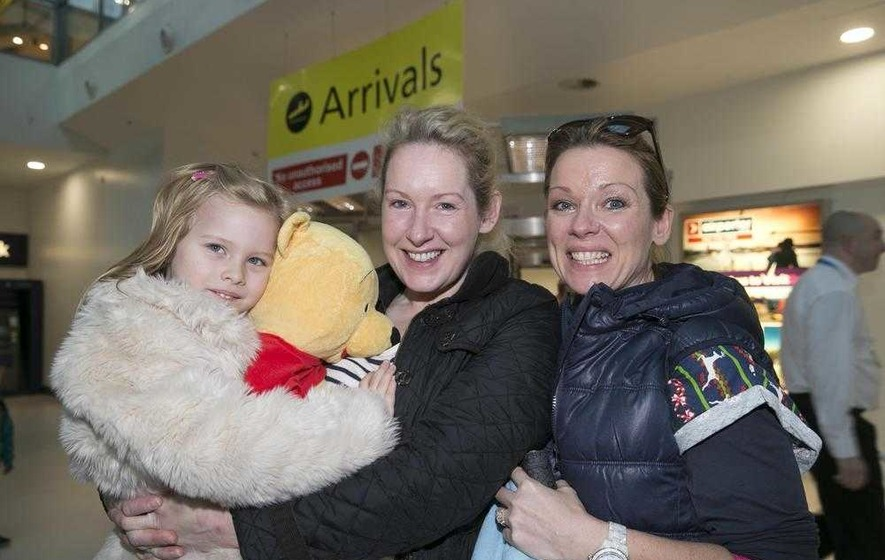 Tears of joy as families reunited for Christmas - The Irish News