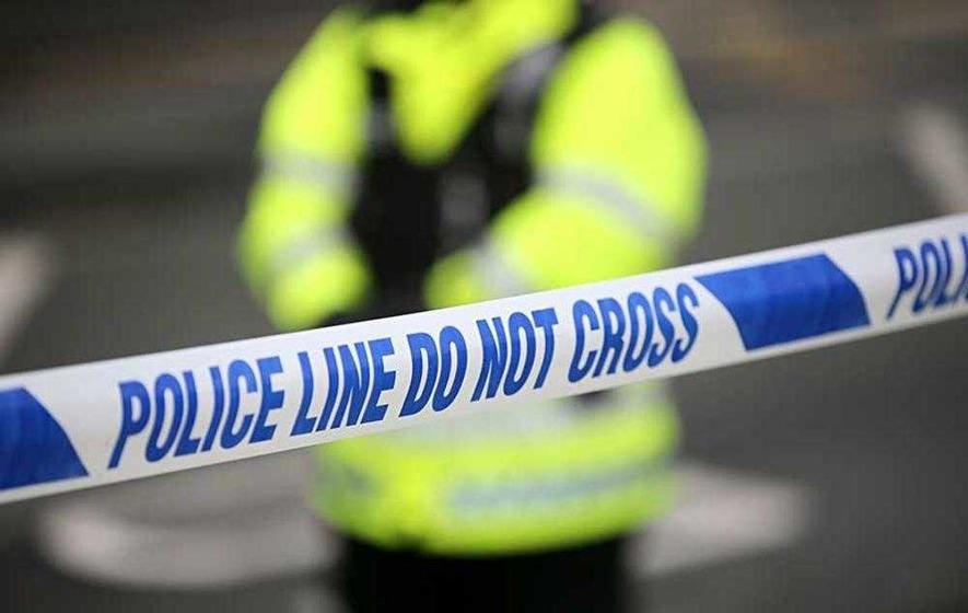 Armed man steals parcels and torches delivery van