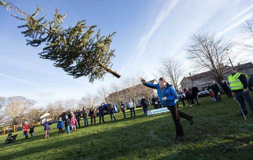 Can you break a world record in Christmas tree tossing?