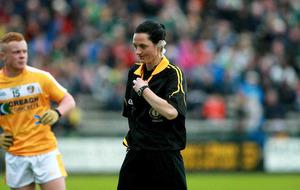 Female referee Farrelly set to make history